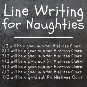 Line Writing for Naughties